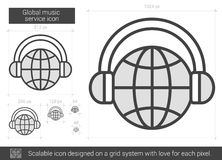Global music service line icon. Stock Image