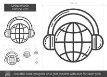 Global music service line icon. Stock Photos