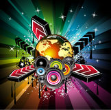Global Musical Event Background Royalty Free Stock Images