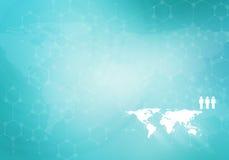 global nätverkande Arkivbild