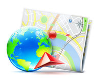 Global navigation concept Royalty Free Stock Photography
