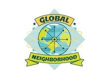Global Neighborhood vector illustration. Global Neighborhood vector badge illustration Stock Images