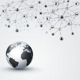 Global Net Connections Black and White Stock Images
