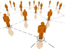 Global Network. Global communications, teamwork, business organization and organized group concepts. Part of a series Royalty Free Stock Photography