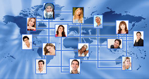 Global network Stock Images