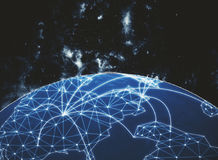 Global network backdrop Royalty Free Stock Image
