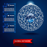 Global network background vector Stock Photo