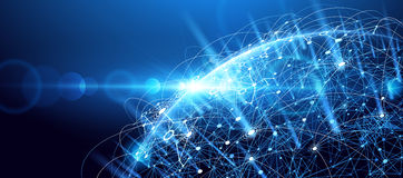 Global network background Royalty Free Stock Photo