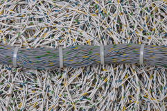 Global network, the bundle of cables Stock Image