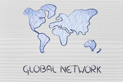 Global network, business in the modern connected world Stock Photography