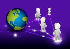 Global network communication Royalty Free Stock Image