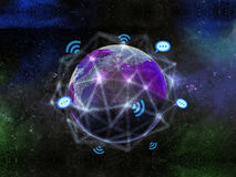 Global Network Communication Abstract Stock Images