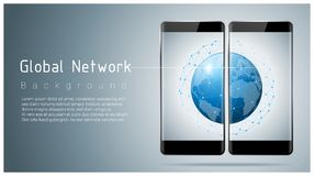 Global network , communication and connection technology concept background Stock Photo