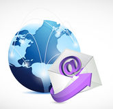 Global network communication. contact us email Stock Photos