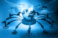Global  network concept Stock Photography