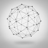 Global network concept on grey royalty free illustration