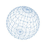 Global network concept isolated over white background royalty free illustration