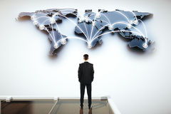 Global network concept Stock Images