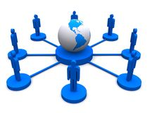 Global network connection Stock Images