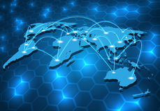 Global network connection background Stock Photo