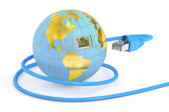 Global network connection concept. 3D rendering Stock Photo