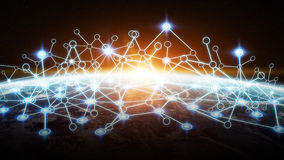 Global network connection Royalty Free Stock Photo