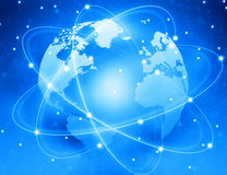 Global network connection Royalty Free Stock Photography