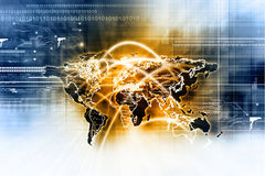 Global network connection Royalty Free Stock Photos