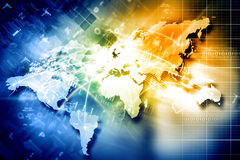 Global network connection Royalty Free Stock Images