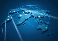 Global network connection Royalty Free Stock Image