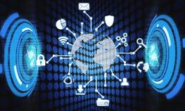 Global network connection. Modern world technology vector illustration