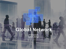 Global Network Connection Social Network Technology Internet Con Stock Image