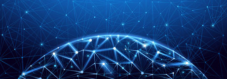 Global network connection stock illustration