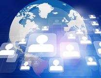 Global network connections Royalty Free Stock Images