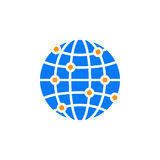 Global network connections icon vector, filled flat sign, solid Royalty Free Stock Photography