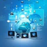 Global network devices. Digital illustration of Global network devices Royalty Free Stock Image