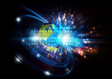 Global network digital background Stock Photo