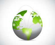 Global network illustration design Stock Photography