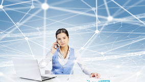 Global network interaction Royalty Free Stock Images