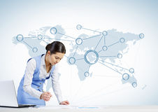 Global network interaction Royalty Free Stock Photography
