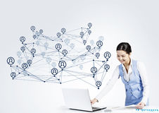 Global network interaction Royalty Free Stock Photos