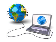 Global network the Internet Royalty Free Stock Photos