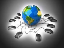 Global network the Internet Royalty Free Stock Images