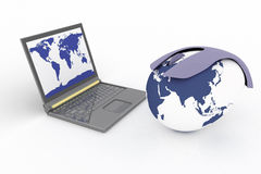 Global network the internet Stock Photos