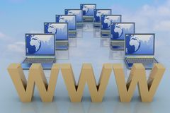 Global network the internet Stock Images