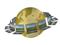 Global network the Internet. Royalty Free Stock Photos