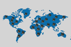 Global network the Internet. Stock Image