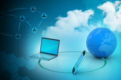 Global network and internet communication concept Royalty Free Stock Photos