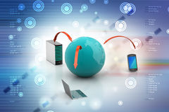 Global network and internet communication concept Stock Images
