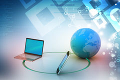 Global network and internet communication concept Stock Photo